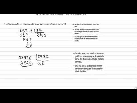 División de números decimales from YouTube · Duration:  12 minutes 53 seconds