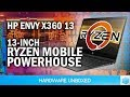 Ryzen Mobile in 13-Inch Ultraportable Tested: HP Envy x360 13 Review
