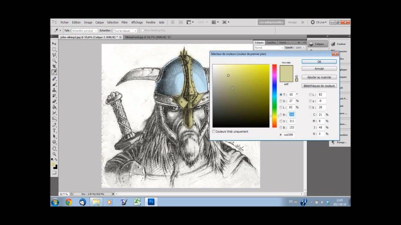 [ shop] Coloriage d un dessin au crayon  papier