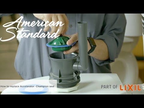 How To Replace The Accelerator Flush Valve Seal In Your Champion Toilet By American Standard