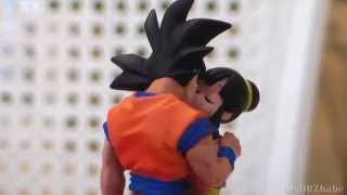Son Goku kissing Chi-chi Capsule neo Cell Edition (MegaHouse) Figure