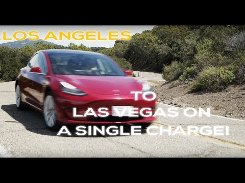 Tesla Model 3 LA to Las Vegas on a single charge