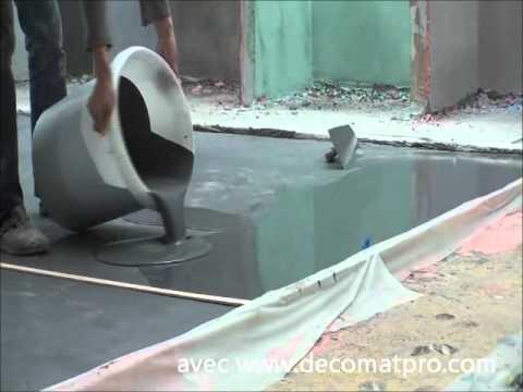 B ton cir coul avec d comat 39 pro youtube for Chape pour terrasse exterieure