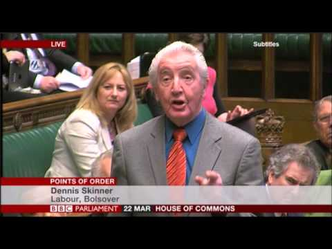 Dennis Skinner 22.03.2016 Point of Order about Mike Ashley