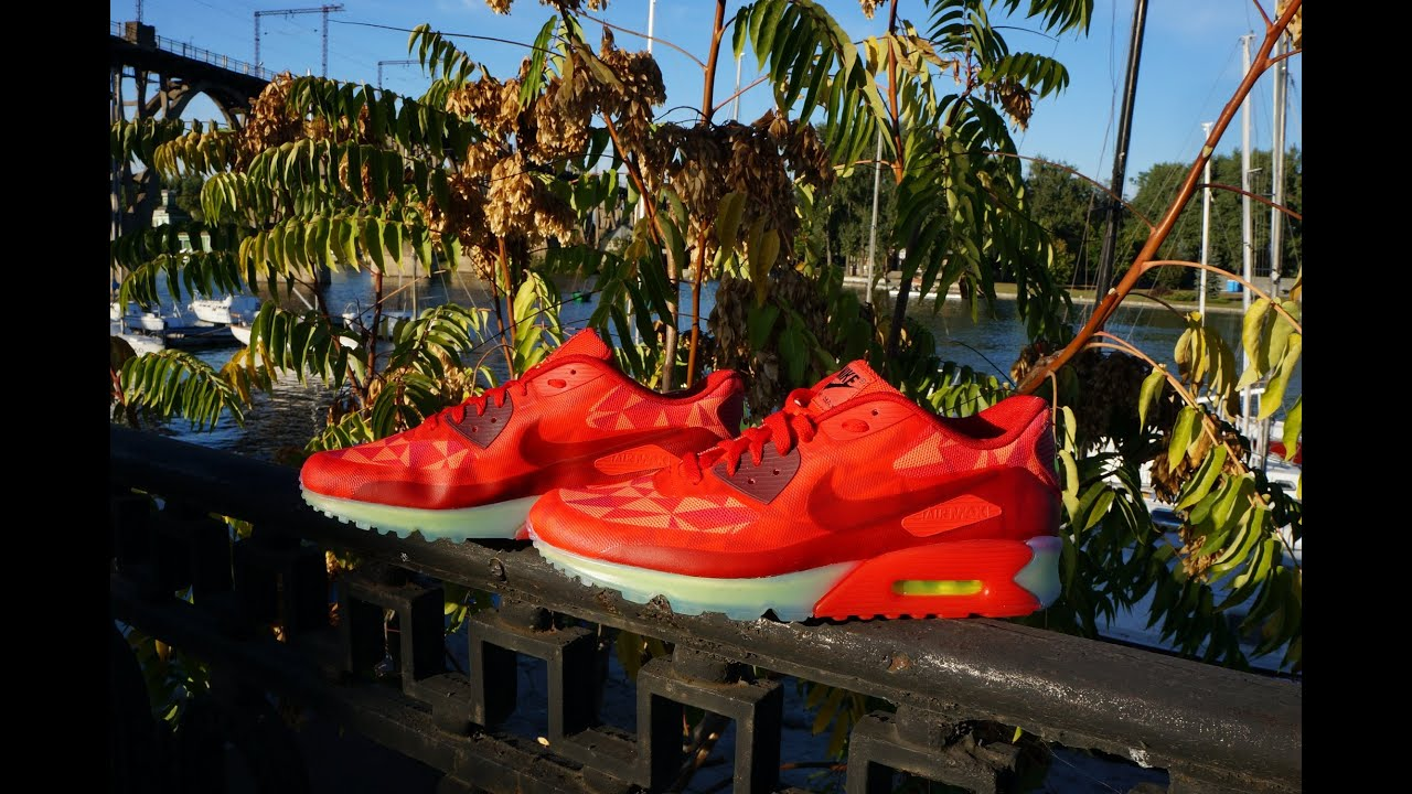 newest collection db547 cb6c9 Nike Air Max 90 ICE Gym Red University Red Light Crimson