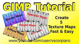 GIMP Tutorial - Fast Way to Create Texture Maps by VscorpianC