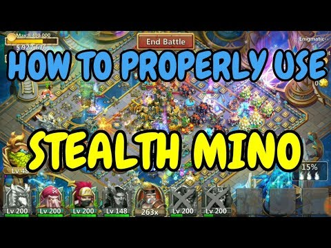 How To Properly Use Stealth Mino L Castle Clash