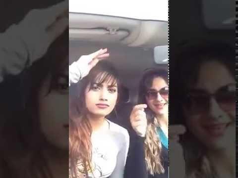 Arab girls in funny mod