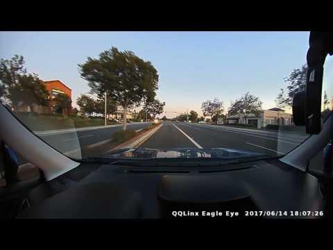 QQLinx Eagle Eye Ultimate Crystal Dash Cam Day/Night Test