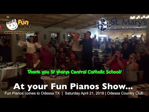 Fun Pianos dueling pianos highlights in Odessa TX 4/21/18