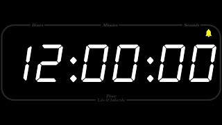 12 Hour - TIMER & ALARM - 1080p - COUNTDOWN