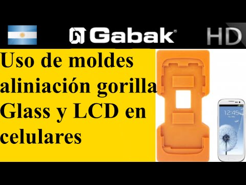 Uso de moldes para pegar vidrio gorilla glass en celulares