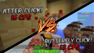 JITTER CLICK vs BUTTER FLY CLICK! (SkyWars) ‹ SeveBR ›