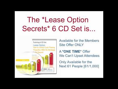 Progressive Property - Lease Options Audio CD