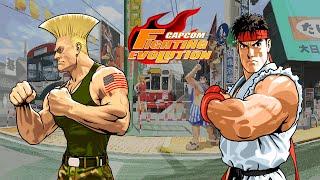 Capcom Fighting Evolution - Guile/Ryu - Arcade Mode Playthrough