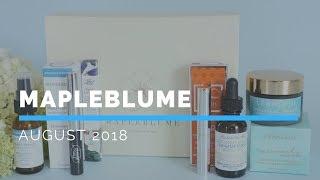 Mapleblume Subscription Box Unboxing August 2018