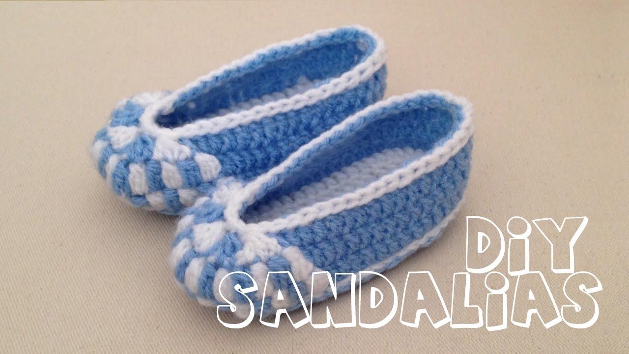 Tejer En Zapatitos Cómo Bebé Sandalias Para Crochet 8vNwm0n