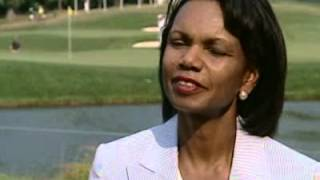 Condoleeza Rice Interview at the Woods Golf Tournament July, 2007