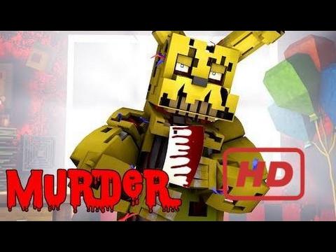 Minecraft FNaF MURDER! SPRINGTRAP HAS A BROKEN HEART! (Minecraft FNaF Roleplay)  #KIP