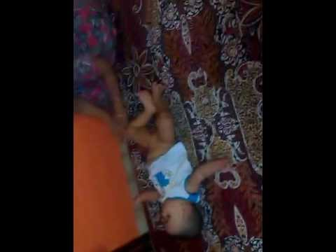 BABY PLAYING & FALLING FROM BED