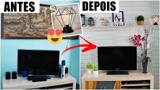 REFORMA DE SALA COM DIYs - ANTES E DEPOIS