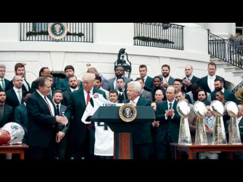 The New England Patriots Visit the White House -Donald trump Speech