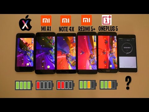 КТО ДОЛЬШЕ ПРОДЕРЖИТСЯ? IPHONE X, XIAOMI REDMI 5 PLUS, REDMI NOTE 4X, MI A1 или ONEPLUS 5?