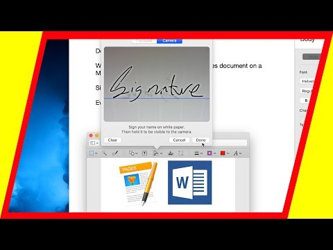 How To Add A Signature To Any Document On Mac (Word doc, Pages)