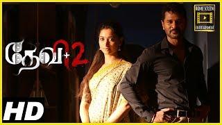 Devi 2 Tamil Movie Scenes | Introduction of Prabhu Deva-Tamannaah | Couple move to Mauritius