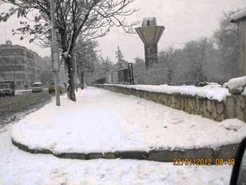 ثلوج حلب 2012 Aleppo snow