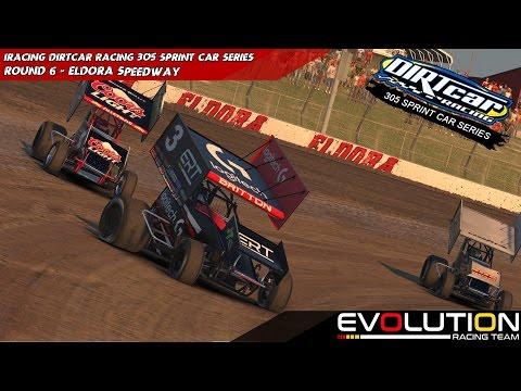 iRacing - #DIRTCONFIMED - 305 Winged Sprints Week 6 @ Eldora Speedway