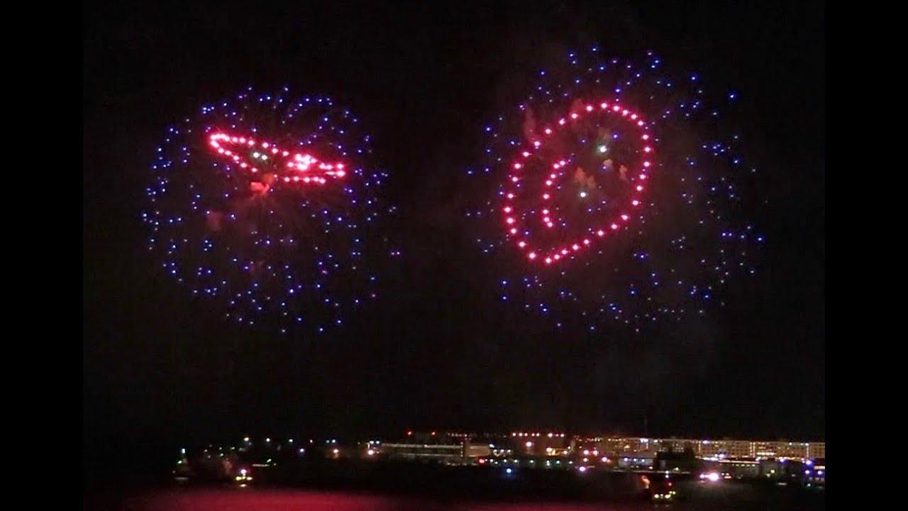 2018-01 New Year's Eve Fireworks over Boston Harbor - YouTube