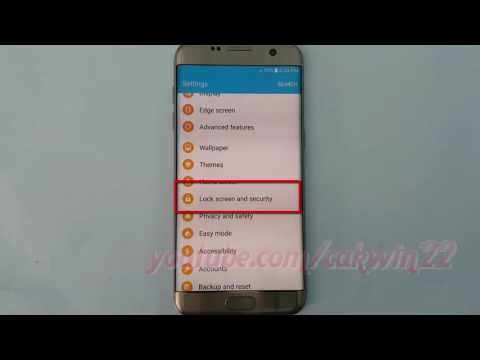 Samsung Galaxy S7 Edge : How to Enable or Disable Lock SIM card (Android Marshmallow)