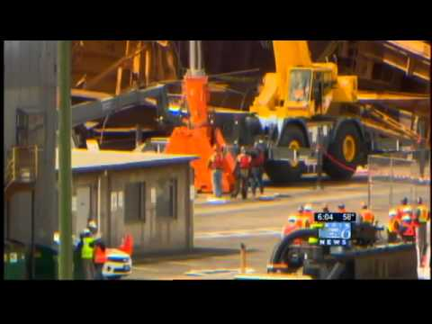 600-ton crane collapses at Port of Portland