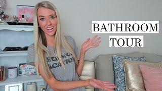 Bathroom Tour & Makeup Storage! + Giveaway!   Erica Lee