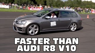 This VW Golf 7 R Variant is faster than an Audi R8 V10!