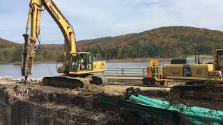 Deconstruction of the Red House Dam October 21 2017 Allegany State Park
