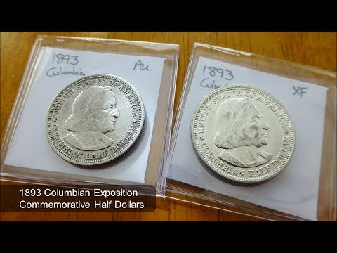 1893  Columbian Exposition half dollars