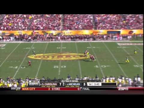 2013 USC vs Michigan - Ace Sanders 63 Yd Punt Return TD