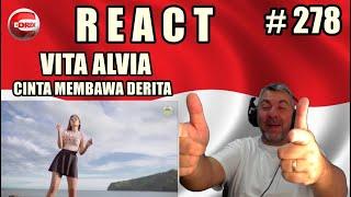 VITA ALVIA - CINTA MEMBAWA DERITA -DJ REMIX FULLBASS - BRAZILIAN REAKSI LAGU INDONESIA (REACTION)