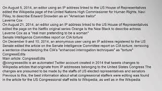 United States Congressional staff edits to Wikipedia