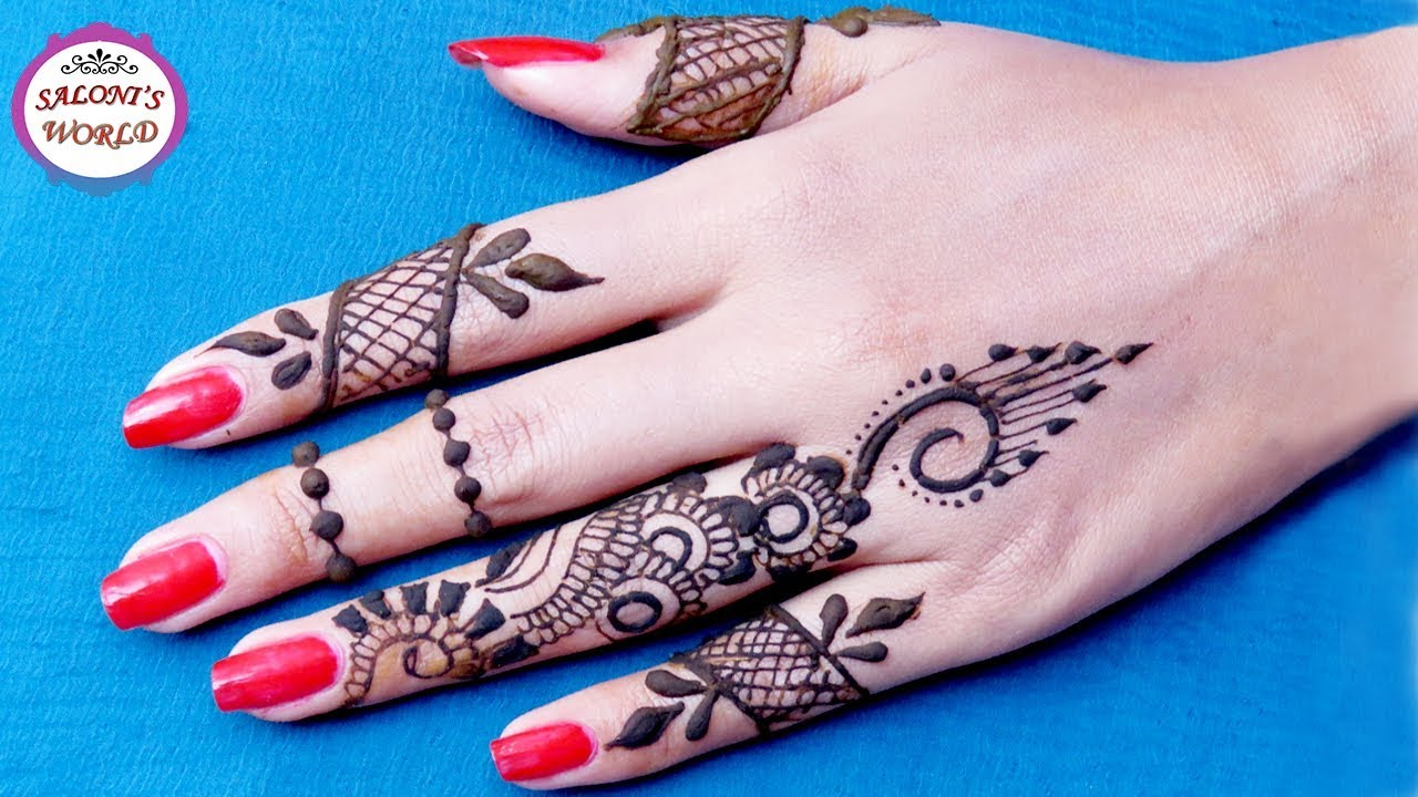 how to apply simple finger mehndi designs henna tattoo by jyoti sachdeva youtube. Black Bedroom Furniture Sets. Home Design Ideas