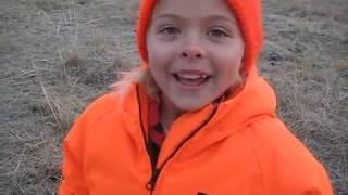 """Savannah's first deer hunt.  """"Dad, is this normal, I'm not cold, I'm just shaking"""""""