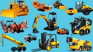 Construction Trucks for Kids | Learn Construction Vehicles | Transport vehicles name and sound