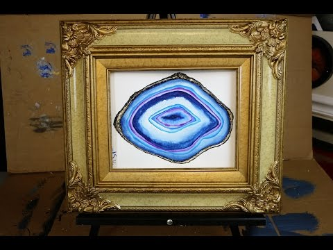 How to Paint a WATERCOLOR AGATE (Real Time - Full Length)
