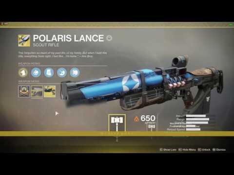 [Destiny 2] Polaris Lance Catalyst Farm - Mostly reliable