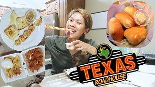 Makan-Makan Texas Roadhouse Appetizer ▻ Roti Empuk Enak  ▻ Mukbang Dengan Guguk.