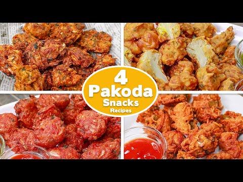 4 Easy Pakoda Snack Recipe | Cabbage Pakoda | Cauliflower pakora | Maggie Pakoda | Chines Pakoda