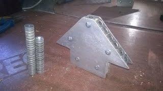 Самодельный магнитный уголок для сварки \ DIY magnetic area for welding(Самодельный уголок на магнитах для сварки деталей из подручных материалов., 2016-08-17T14:42:24.000Z)