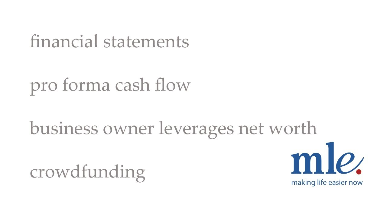 financial statements pro forma cash flow business owner leverages